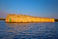 Saint Nikola fortres in Sibenik bay entrance