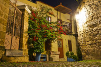 Traditional House, Rhodes Old City By Night, Greece