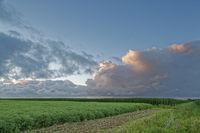 Abendwolken über Ostfriesland