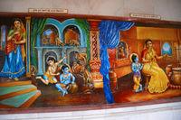 Lord Krishna's childhood scene. Iskcon temple, Pune