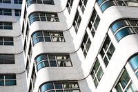 modern building facade , white  building exterior