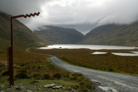 Doolough Valley with street in County Mayo