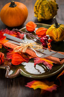 Autumn and Thanksgiving table setting