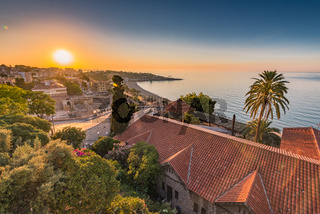 Tarragona townscape at sunrise,Spain