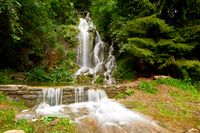 romantic waterfall in mountains of Harz