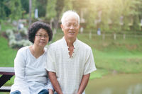 Old Asian couple portrait.