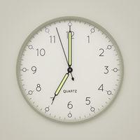 a clock shows 7 o'clock