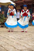 Lijiang Old Town Naxi Women Dance Traditional Garb
