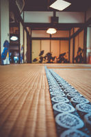 shoren-in temple interior detail, Kyoto, Japan