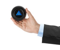 Magic ball with prediction Maybe in hand