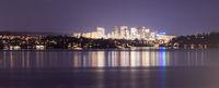 Light Reflection Water Bellevue Washington Downtown City Skyline