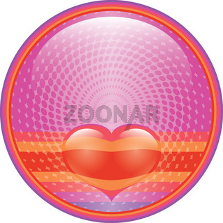 Heart internet button