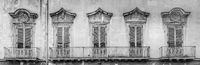Lecce, Italy - Old windows in baroque style