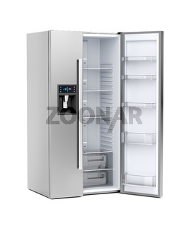 Big refrigerator with opened door