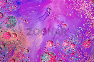 Abstract ink in liquid chaos background
