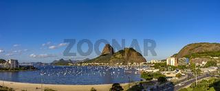 Sugar Loaf and Botafogo beach panorama