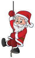 Climbing Santa Claus theme image 1