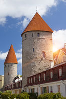 Medieval towers - part of the city wall. Tallinn