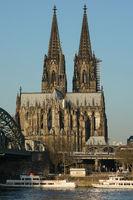 Dom von Köln bei Sonnenaufgang, Deutschland, Europa