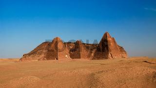 Jebel Barkal and Pyramids, Karima. Nubia, Sudan
