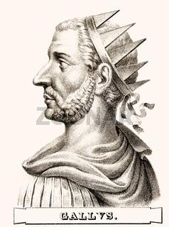Trebonianus Gallus, 206-253, Roman Emperor