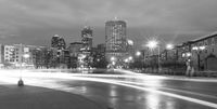 Downtown Indianapolis City Skyline Michigan Street Intersection