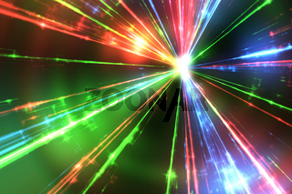 red green and blue laser rays