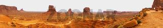 Panoramic View Monument Valley Utah Navajo Nation Recreation Area