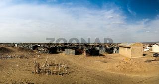 Camp site near Erta Ale volcano , Danakil Afar, Ethiopia