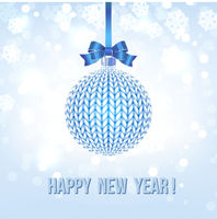 Blue Knitted Christmas Ball