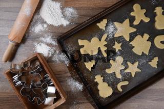 Making Christmas Shaped Sugar Cookies