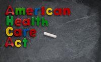 American Health Care Act illustration on chalkboard