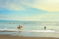 Surfers ready to surf. Bali