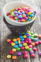 Colorful chocolate candies.