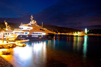 Yachting destination of Vis island evening view