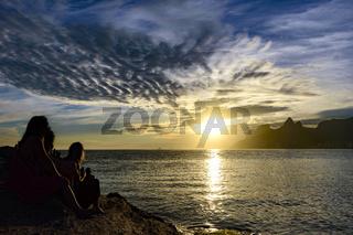 Woman at summer sunset