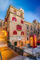 Red phone booth in Valletta,Malta