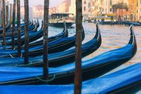 Venice with gondolas on Grand Canal