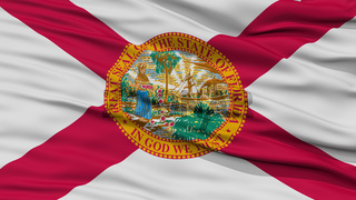 Closeup Florida Flag, USA state