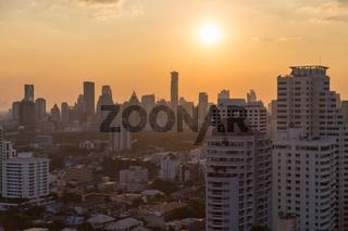 Bangkok skyline Sonnenuntergang panorama