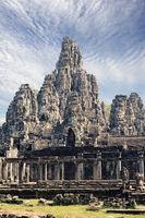 Ancient Bayon Temple (12th century)  At Angkor Wat