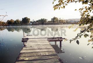 Boardwalk on the lake
