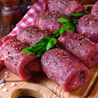 fresh raw beef roulades