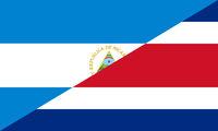 nicaragua costa rica flag