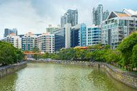 Singapore modern architecture along river