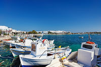 The port of Antiparos island, Greece