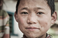 Deep brown eyes in Nepal