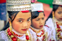 Girls with crowns in Meghalaya