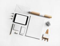 Set of blank stationery
