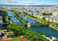 Aerial panoramic view of Paris
